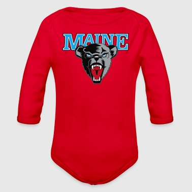 Maine Black Bears Premier - Organic Long Sleeve Baby Bodysuit
