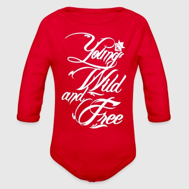 Young Wild and Free New - Organic Long Sleeve Baby Bodysuit