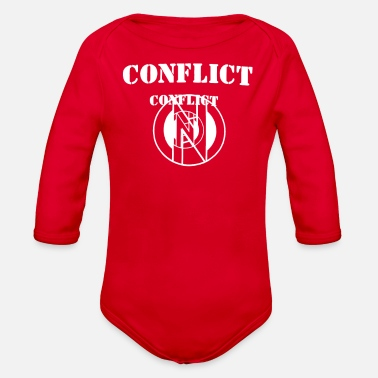Conflict Conflict - Organic Long-Sleeved Baby Bodysuit