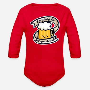 Candidate Candid Beer - Organic Long-Sleeved Baby Bodysuit