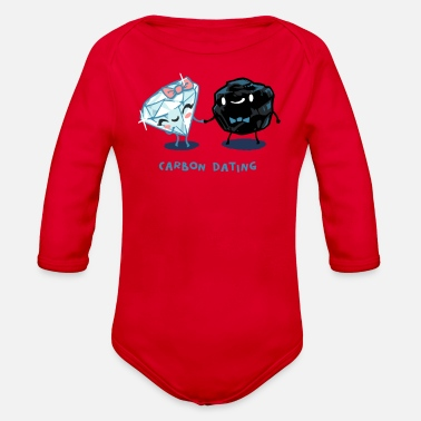 Date Carbon Dating - Organic Long Sleeve Baby Bodysuit