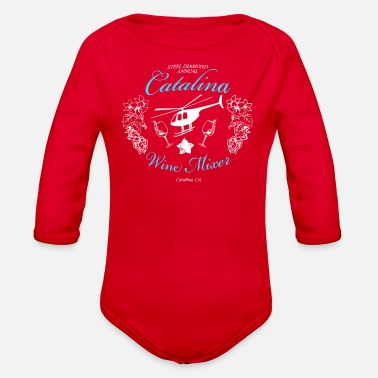 Wine Catalina Wine Mixer - Organic Long-Sleeved Baby Bodysuit