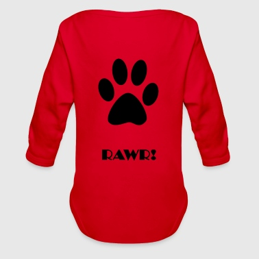 RAWR - Organic Long Sleeve Baby Bodysuit