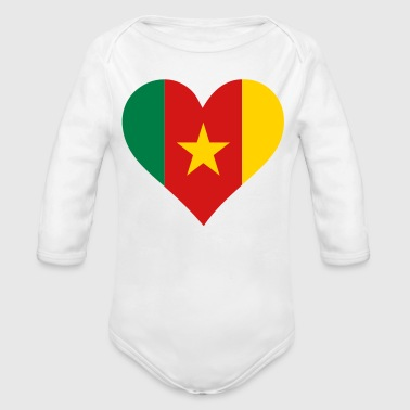 A heart for Cameroon - Organic Long Sleeve Baby Bodysuit
