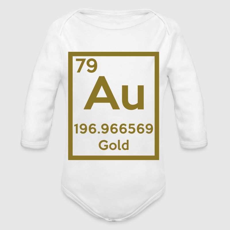 gold (element) - Organic Long Sleeve Baby Bodysuit