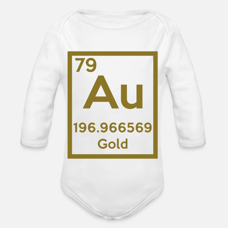 Gold Baby Clothing - gold (element) - Long-Sleeved Baby Bodysuit white