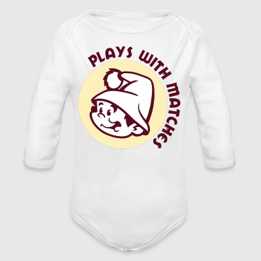 Plays With Matches - Organic Long Sleeve Baby Bodysuit