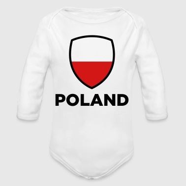 National Flag of Poland - Organic Long Sleeve Baby Bodysuit