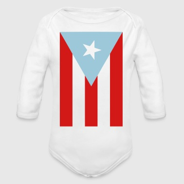 Boricua Flag - Organic Long Sleeve Baby Bodysuit
