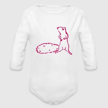 squirrel - Long Sleeve Baby Bodysuit