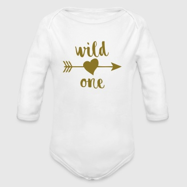 Wild One - Organic Long Sleeve Baby Bodysuit