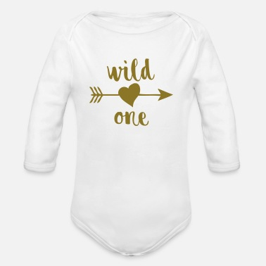 Birthday Wild One - Organic Long Sleeve Baby Bodysuit