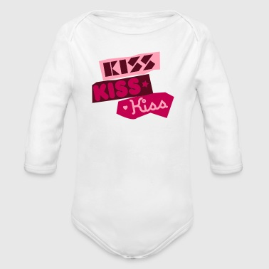Kiss Kiss Kiss - Long Sleeve Baby Bodysuit