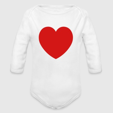 Rounded Heart - Organic Long Sleeve Baby Bodysuit