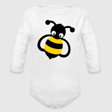 Bee Mascot - Long Sleeve Baby Bodysuit