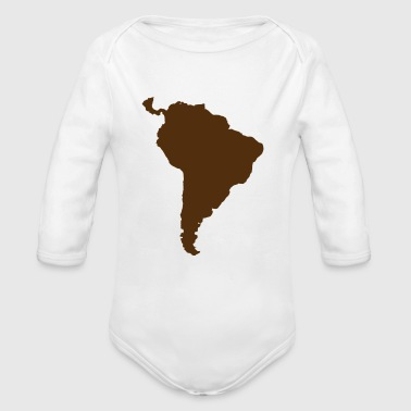 south america green - Organic Long Sleeve Baby Bodysuit