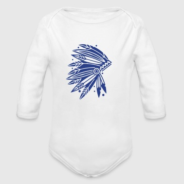 Chieftain's Headdress - Organic Long Sleeve Baby Bodysuit