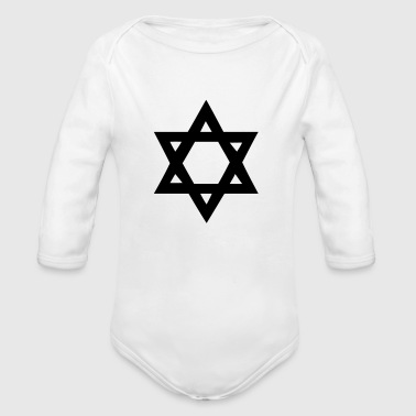 Star of David - Long Sleeve Baby Bodysuit