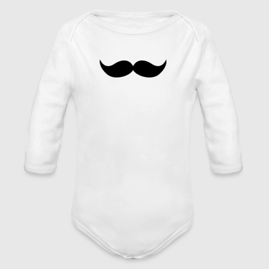 Moustache 8 - Organic Long Sleeve Baby Bodysuit