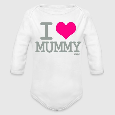i love mummy by wam - Organic Long Sleeve Baby Bodysuit