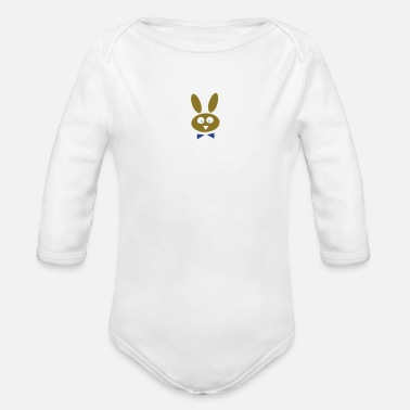 Easter Bunny bunny - Organic Long-Sleeved Baby Bodysuit