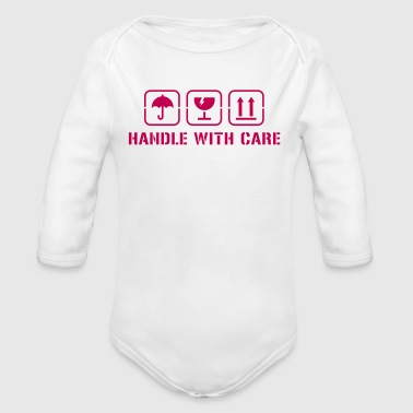 Handle with care - Organic Long Sleeve Baby Bodysuit