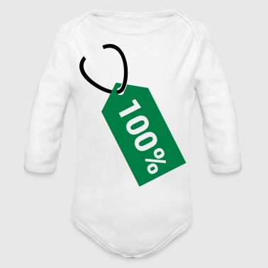 Price tag - hundred percent - Organic Long Sleeve Baby Bodysuit
