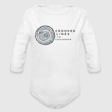Crook Crooked Lines Album Cover Art - Organic Long Sleeve Baby Bodysuit