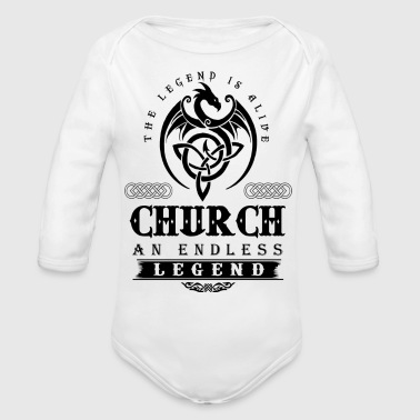 CHURCH - Organic Long Sleeve Baby Bodysuit