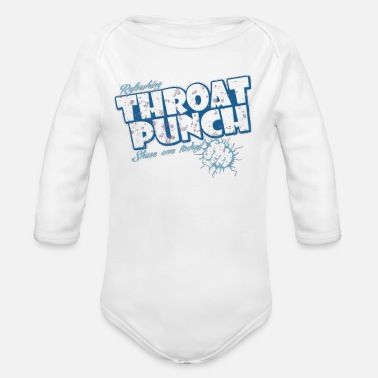 Punch Throat Punch - Organic Long Sleeve Baby Bodysuit