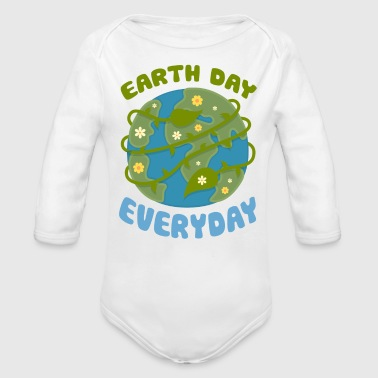 Earth Day Every Day - Organic Long Sleeve Baby Bodysuit