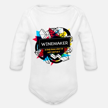 Winemaker WINEMAKER - Organic Long-Sleeved Baby Bodysuit