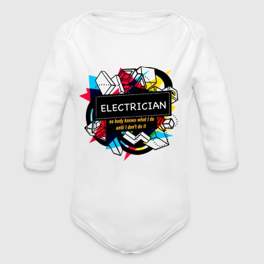 ELECTRICIAN - Organic Long Sleeve Baby Bodysuit