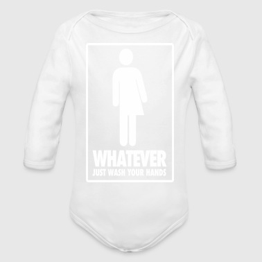 Restroom Dont Care Which Restroom Just Wash Your Hand T Shi - Organic Long Sleeve Baby Bodysuit