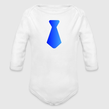 Tie only b - Organic Long Sleeve Baby Bodysuit