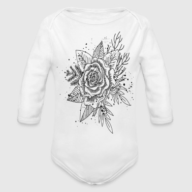 Forest In Ink - Organic Long Sleeve Baby Bodysuit