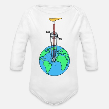 Eco The Eco Wheel - Organic Long Sleeve Baby Bodysuit