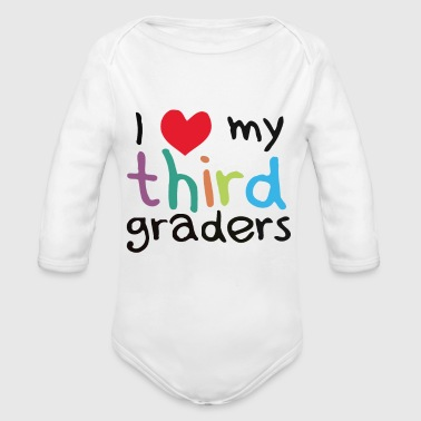 Third Grade Teacher - Organic Long Sleeve Baby Bodysuit