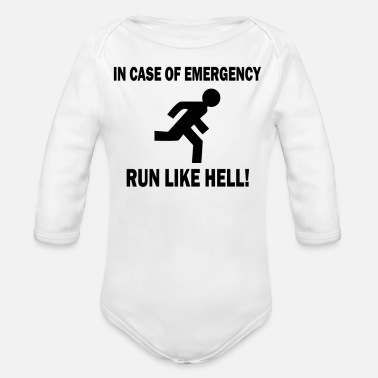 Emergency In Case Emergency - Organic Long-Sleeved Baby Bodysuit