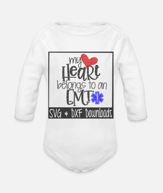 Heart Baby One Pieces - emergency medical technician - Organic Long-Sleeved Baby Bodysuit white