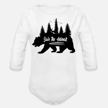 Greenpeace Wildlife nature forest animals - Organic Long Sleeve Baby Bodysuit