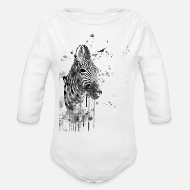Zebra Zebra - Organic Long-Sleeved Baby Bodysuit