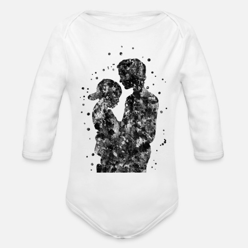 37031797 Father and son, father with son Organic Long-Sleeved Baby Bodysuit ...