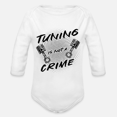 Crime Tuning is not a crime - Organic Long-Sleeved Baby Bodysuit