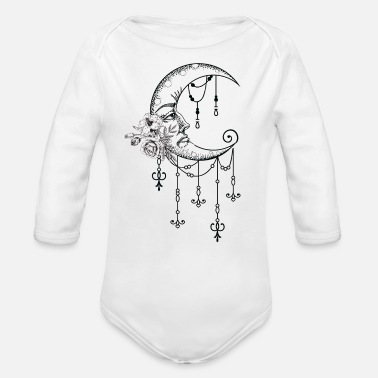Healing Healing Moon - Organic Long-Sleeved Baby Bodysuit