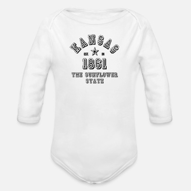 Kansas Kansas - Organic Long-Sleeved Baby Bodysuit