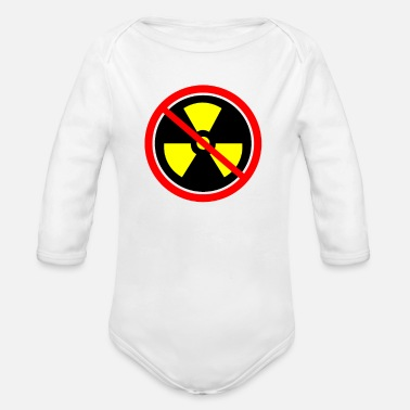 Anti Nuclear Power Anti nuclear power plants nuclear war - Organic Long-Sleeved Baby Bodysuit