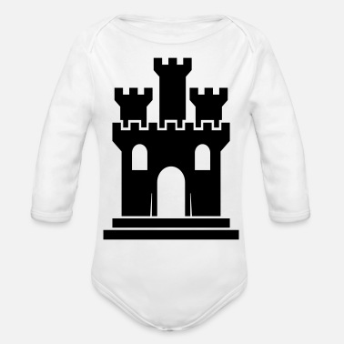 Castles castle - Organic Long-Sleeved Baby Bodysuit
