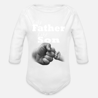 Matching Like Father like son - Organic Long Sleeve Baby Bodysuit