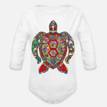 Sea sea turtle - Organic Long Sleeve Baby Bodysuit